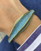 Turkish Handmade Turquoise Sterling Silver 925 Bracelet Bangle Cuff