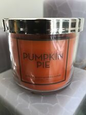 4 Oz Bath & Body Works Pumpkin Pie Small Candle With Whipped Vanilla Fall Autumn