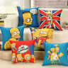 Cartoon Anime Simpsons Cushion Cover Cafe Decoration Sofa Car Supplies Cojines