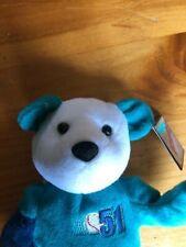 Ichiro Suzuki 51 Plush Beanie Bear Figure Seattle Mariners Salvino's Bammers NWT