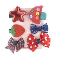 Mini 6Pcs/set Hairpin Baby Girl Hair Clip Bow Flower Barrettes Star Kids Infant