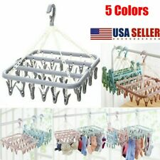 32 Peg Dryer Washing Line Airer Clothes Horse Underwear Socks Pants Hanger Clips