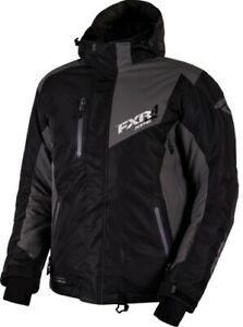 FXR MEN'S RECOIL JACKET COAT PARKA - SNOW - Black / Charcoal -  3XL - NEW