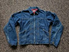 Vintage 1950's Buckaroo by Big Smith Sanforized Denim Jacket Small Fleece Lined