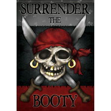 Carson Homes Garden Flag Double Sided 13x18 inch Pirate Surrender the Booty