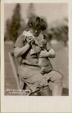 Gay's Lion Farm Woman Bottle Feeding Cub El Monte CA RPPC Photo Postcard B16