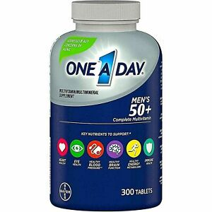 ONE A DAY MEN'S 50 PLUS COMPLETE MULTIVITAMIN / MULTIMINERAL SUPPLEMENT 300 CT
