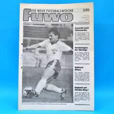 DDR FUWO Fussballwoche 5/1985 Vorwärts Frankfurt Dynamo Dresden A. Trautmann B