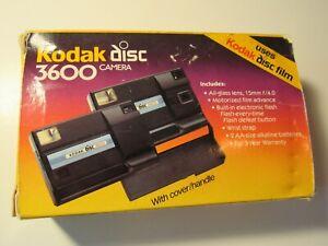 Vintage Kodak Disc 3600 Camera in Original Box clamshell insert and instructions