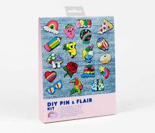 Diy Pin & Flair Kit Shrinky Dink Color Bake Shrink Film Retro Designs Yellow Owl