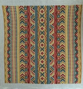 CanvasWorks Traditions, Anatolian Stripes, hand painted needlepoint canvas