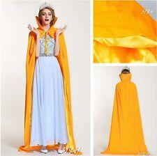 """Princess 71"""" Velvet Cloak Cape Satin Long Coat Wedding Bridal Pageant Prom Party"""