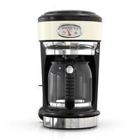 Russell Hobbs Drip Coffee Maker 40 fl. oz. 8-Cup Keep Warm Setting Cream Beige