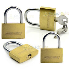 "4 pack Lot 1"" Inch Key Padlock Small Mini Tiny Brass Lock Luggage Toolbox Box"