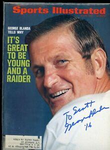 GEORGE BLANDA DECEASED OAKLAND RAIDERS SPORTS ILLUSTRATED signed autographed