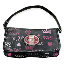 XOXO - Black Shoulder Purse with he