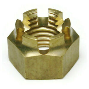Brass Castle Nuts - Brass Castellated Nuts Used With A Cotter Pin - Select Size