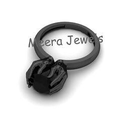 Full Black Moissanite 22Kt Black Gold Plated Hand Shape Beautiful Ring For Women