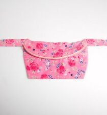 New - Sass & Belle Ladies Pink Floral Roses Festival Cotton Bum Bag