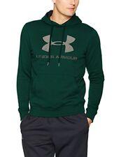 Sweats, polaires et hoodies de fitness verts coton pour homme