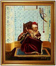 Ölbild Markos Botsaris orientalistic-Jean-Léon Gérôme  HANDGEMALT,50x60cm