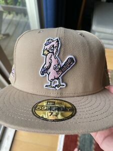 Exclusive Fitted St Louis Cardinals Pink UV 1957 WS Patch Oatmeal Pack Hat 7 1/4