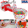 Portable 3 in 1 Kids Indoor Outdoor Play Tent + Crawl Tunnel Ball Pit Tent Set