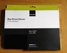 "Acme Made Bay Street Sleeve Case Cover For Chromebook 11-12"" Matte Black"
