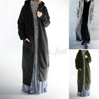 ZANZEA 8-24 Women Full Length Long Jacket Coat Cardigan Zip Up Overcoat Cardi