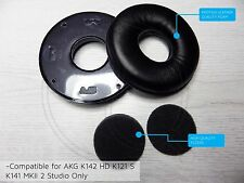 Leather ear pads coussin K141 mkii 2 akg K142 hd K121 s studio casque filtre