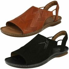Women's Casual Wedge Slingbacks 100% Leather Sandals & Beach Shoes