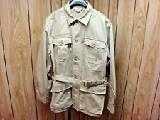 Field & Stream size Medium Men's Hunting Safari Outdoor Jacket Shirt khaki