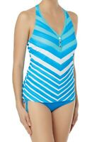 Beach House Women's Swimwear Blue Size 8 Claire Racerback Tankini Top $40 #095