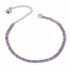 "Stainless Steel Cubic Zircon Tennis Bracelet Jewelry for Women Size 7"" Ct 15"