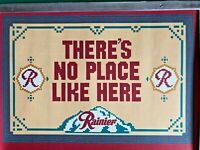 Vintage Rainier Beer Theres No Place Like Here Cross Stitch Art Print Poster PNW