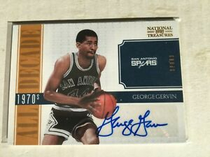 2010-11 Playoff National Treasures George Gervin All Decade Auto Autograph #3/25