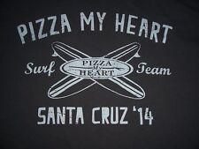 2014 Pizza My Heart Surf Team Santa Cruz California T Shirt Med