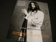 JARED LETO The Shape Shifter... 2015 PROMO DISPLAY AD mint condition