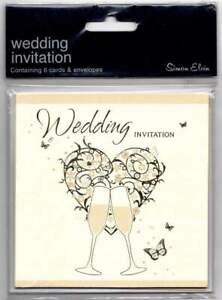 Wedding invitations  by Simon Elvin 6 cards & envelopes brand new