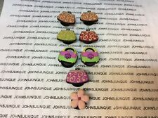JIBBITZ SET OF 8 SHOE CHARMS CROC SHOES NEW 7 PURSES 1 PINK FLOWER