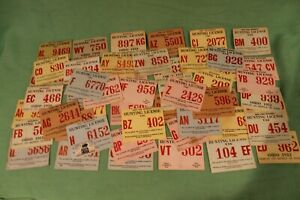 LOT OF 50 VINTAGE 1950's OHIO HUNTING LICENSE - #42