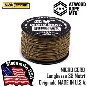 Cordino MICRO CORD AtWood Rope MFG 38 Metri Tensione 46 Kg Made in USA Coyote