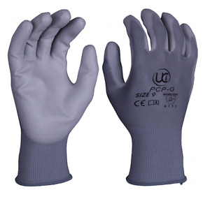 PU Palm Coated Precision Protective Safety Work Gloves - Various Colours