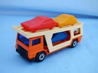 Vintage 1976 Matchbox Superfast No 11 Car Transporter Truck Lorry Orange Toy