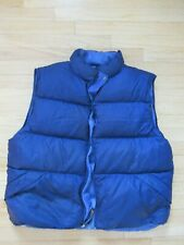 LL Bean Goose Down Puffer Vest Mens XL Tall Royal Reversible Insulated