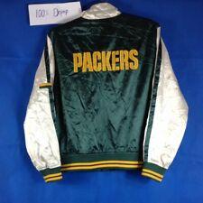 vtg 80s 90s Green Bay packers football nfl reebok varsity jacket coa
