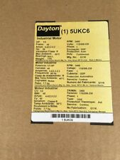 Dayton Industrial Motor 5UKC6 3450 RPM 1/3 HP NEW