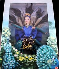 """Amazing 12"""" The Peacock Barbie Doll Birds of Beauty Collector 1998 Mattel MIB"""