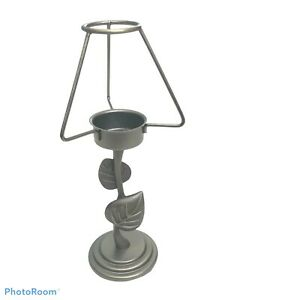 Metal Leaf Branch Tea Light Candle Holder Shade Frame Weighted Felt Bottom