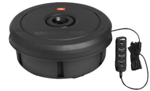 """JBL BassPro Hub 11"""" Spare Tire Powered Subwoofer Enclosure Built In Amp 400W Max"""